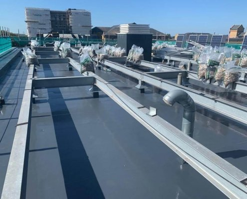 A Commercial Roof Protected by Prokol Protective Coatings USA