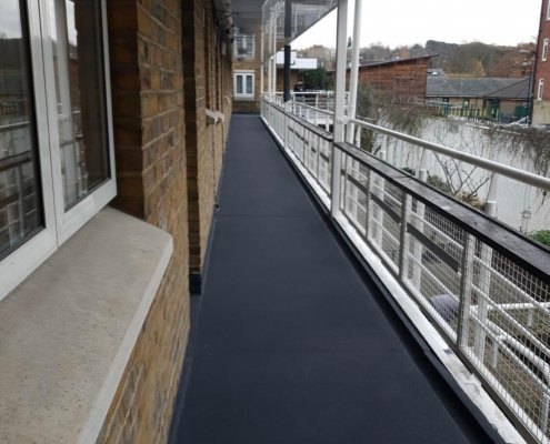 A Walkway in Black Protected For at Least 20 Years by Prokol Protective Coatings USA