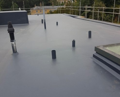 A Wooden Roof Substrate Protected by Prokol Hotspray 260FR