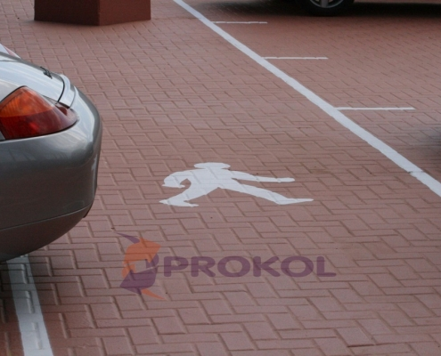 A Car Park Walkway with Prokol's Liquid Coating - Hotspray 136T