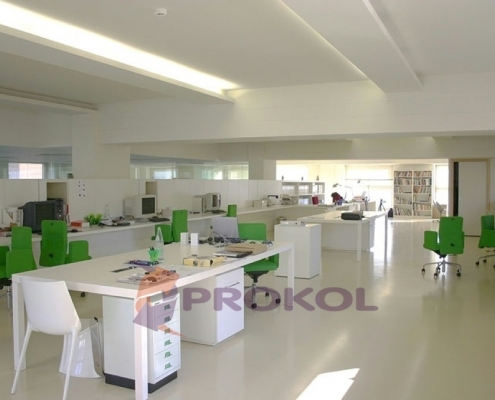 A Office With a Mirror Finished Floor - Protected by Prokol Rocapox