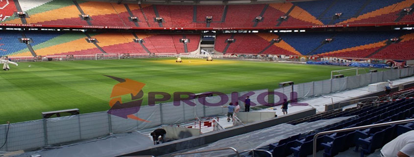 Prokol Protective Coatings USA Hotspray applied at Ajax Stadium in Holland
