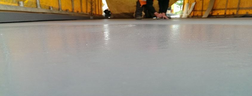 Monoseal Creating a Shiny Floor Showing Prokol Protective Coatings USA's World-leading Waterproof and Fire Retardant Product